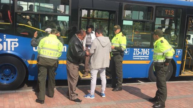 Van 443 capturas en transporte público de Bogotá en los corrido del año