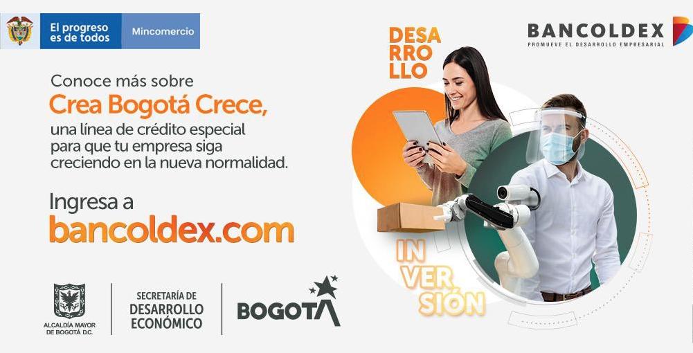 Línea de crédito 'Crece, Bogotá Crea