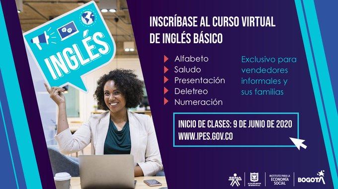 Infórmate sobre los cursos virtuales para los vendedores informales de Bogotá