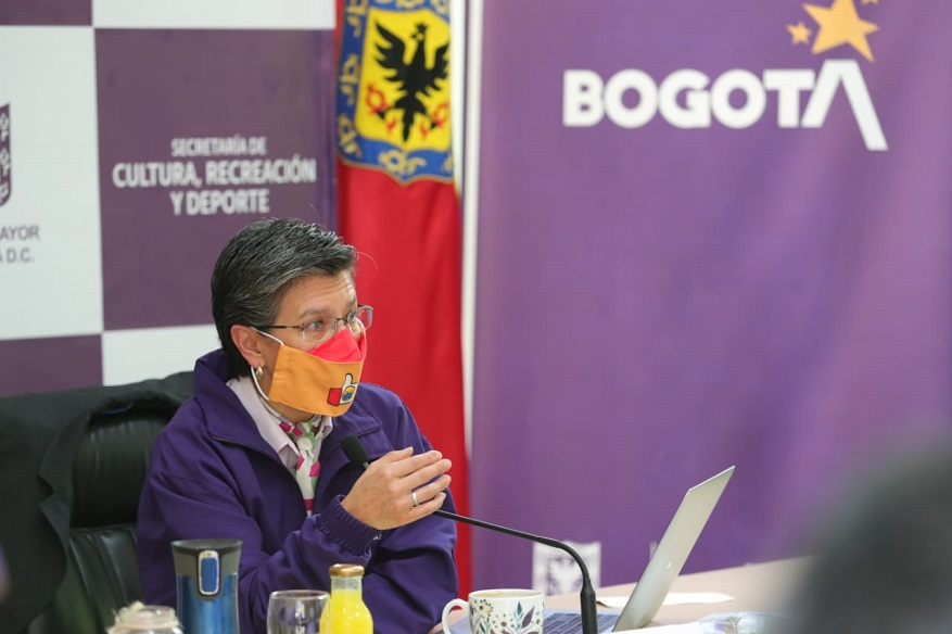 Alcaldesa Claudia López adelantó una nueva jornada de #DespachAndo desde la Secretaría de Cultura