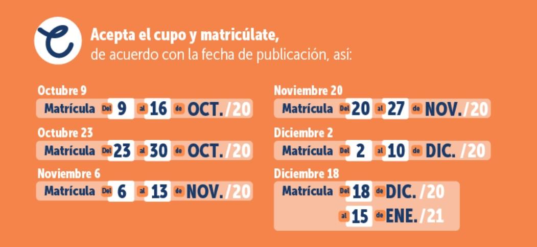 ¡Pilas! El 30 de octubre vence plazo para solicitar un cupo en un colegio oficial