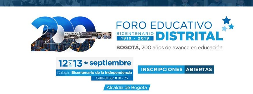 Foro Educativo Distrital 2019