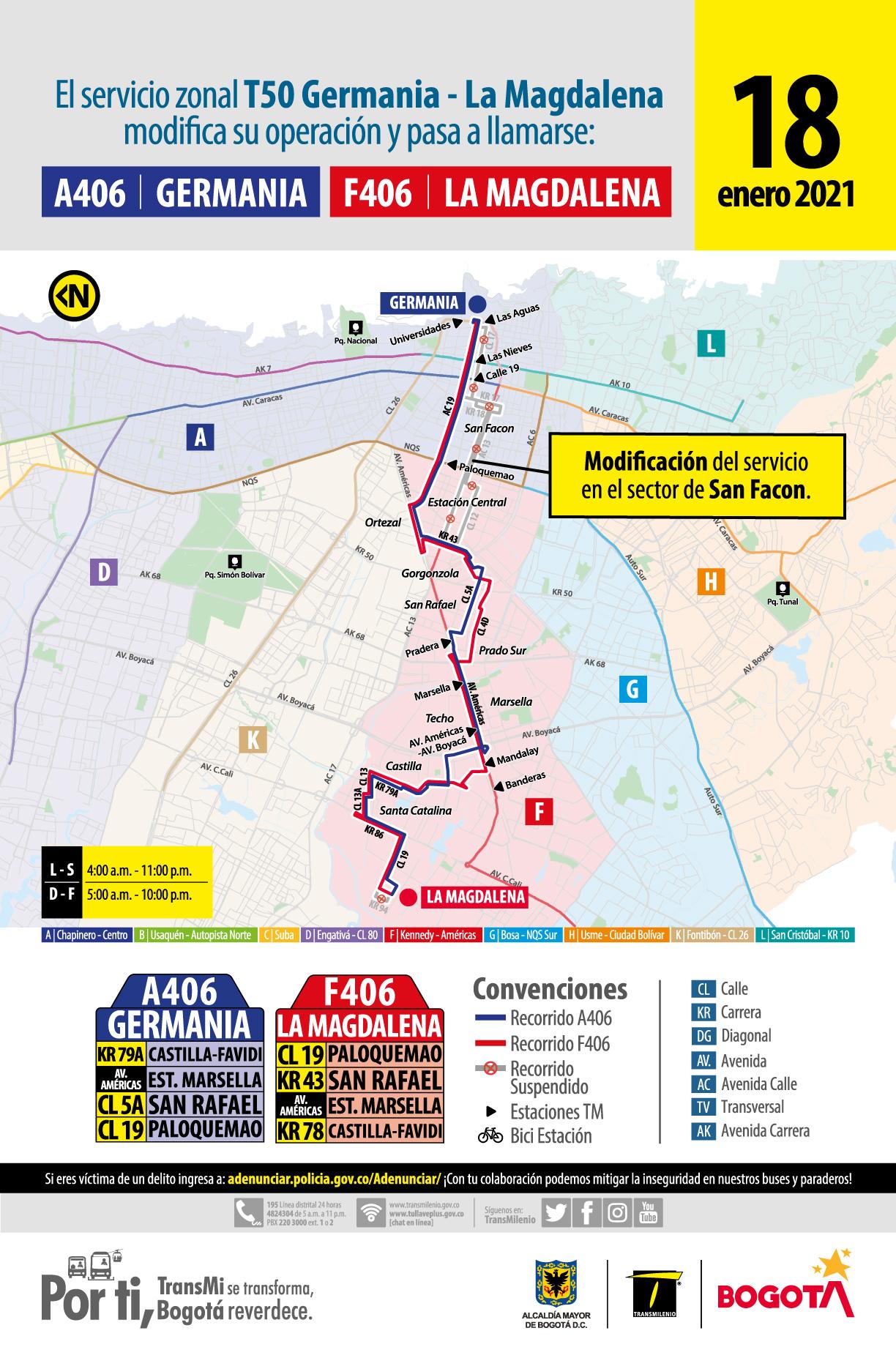 Ruta AF 406: Germania- La Magdalena