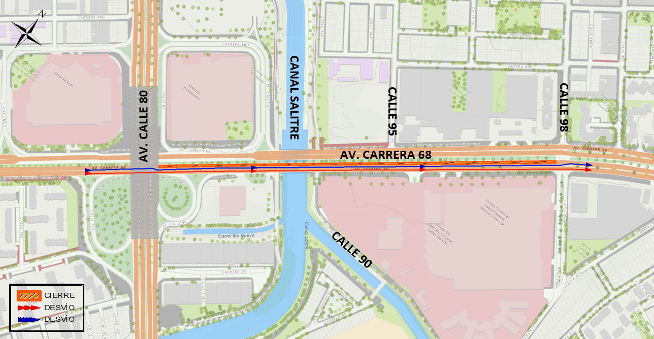 Mapa 2 vías alternas