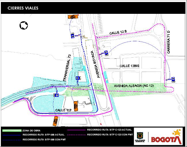 Mapa 3. Desvío transporte público