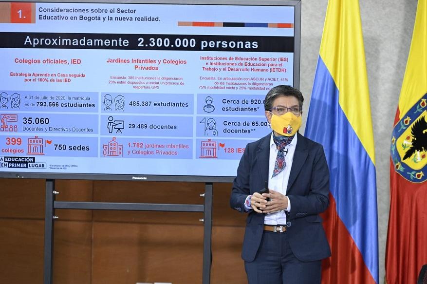Reapertura gradual de instituciones educativas en Bogotá - Foto: Comunicaciones Alcaldía de Bogotá