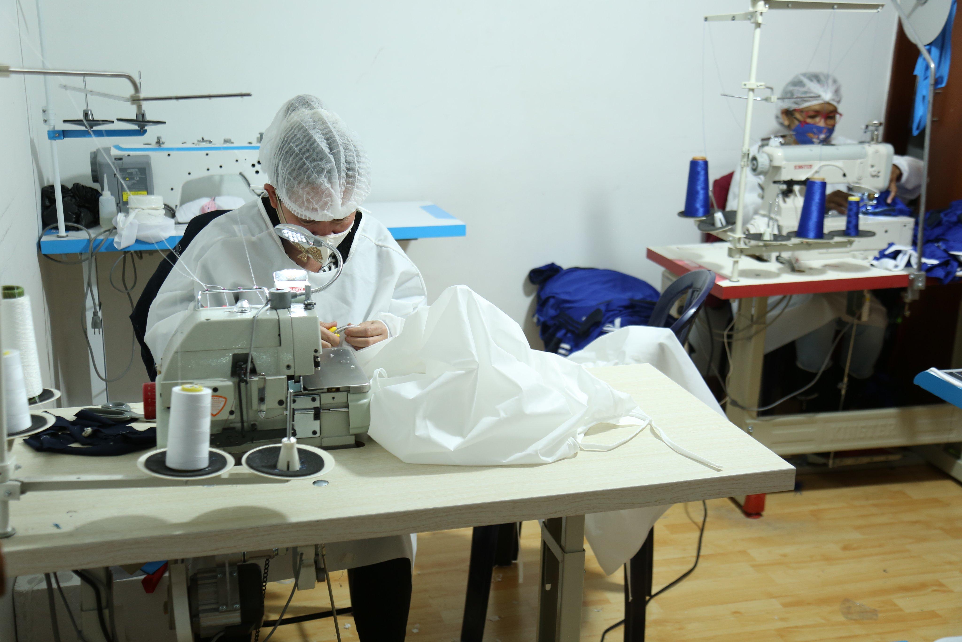 Confeccionistas y textileros se unieron durante la pandemia - FOTO: Prensa Secretaría de Gobierno