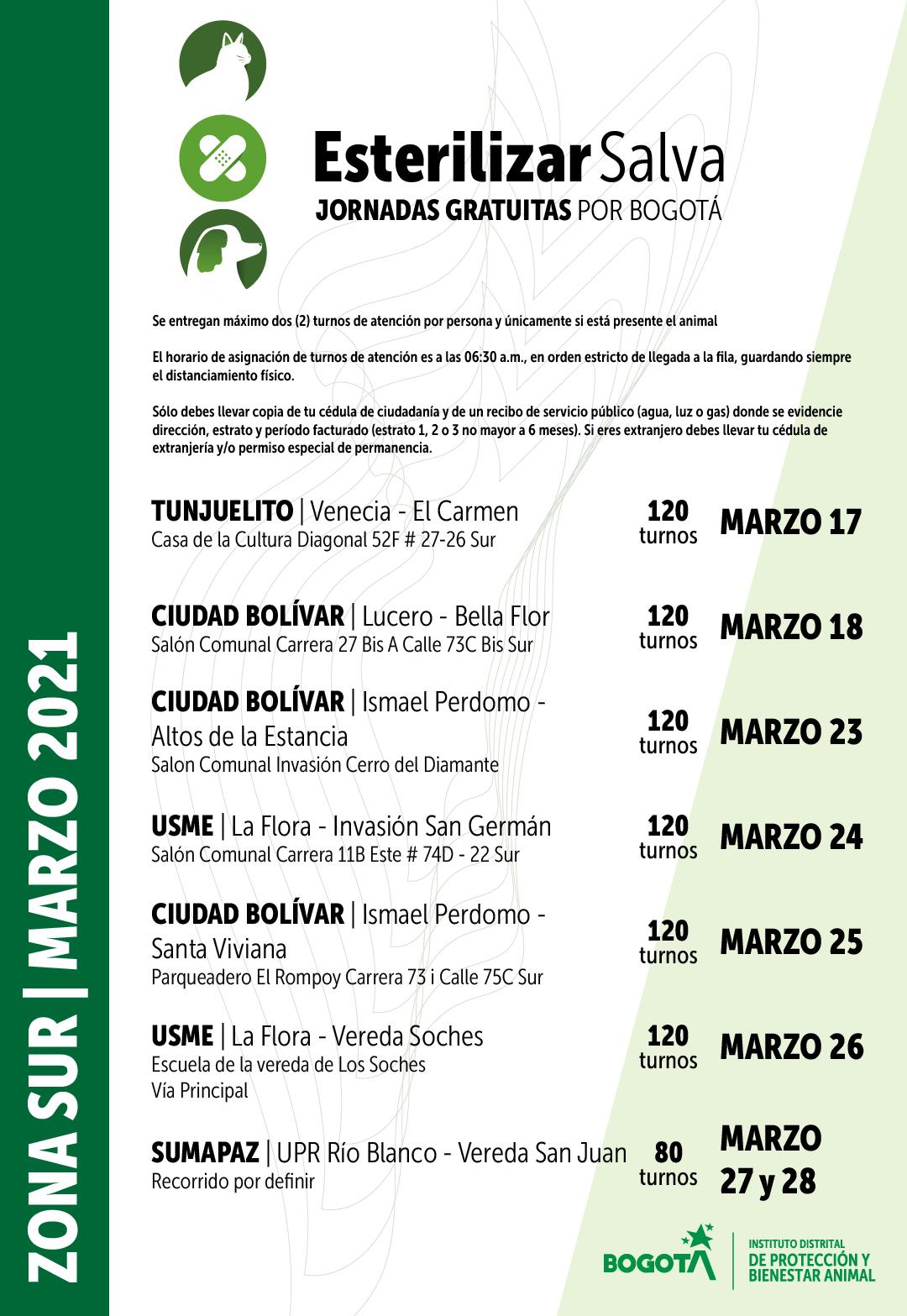 Cronograma marzo