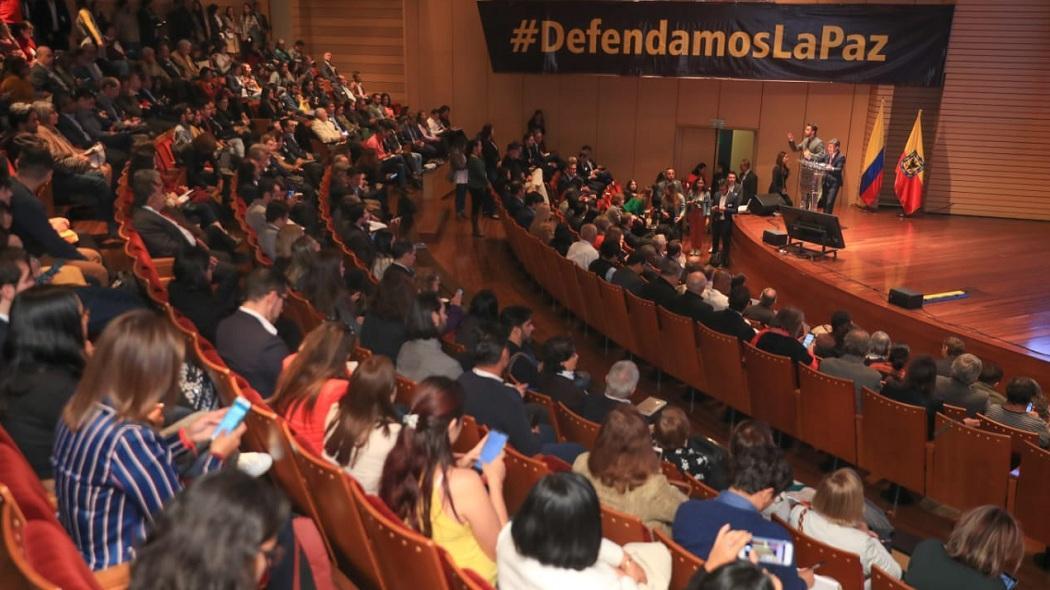 Alcaldesa Claudia López en la Cumbre por la Paz Territorial