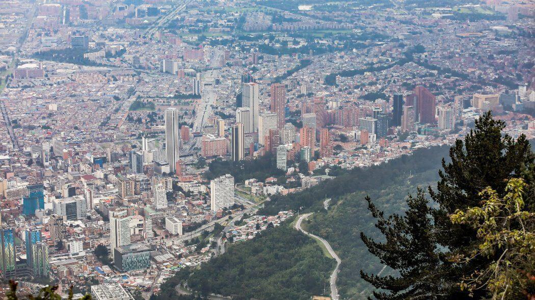 Imagen aérea de Bogotá