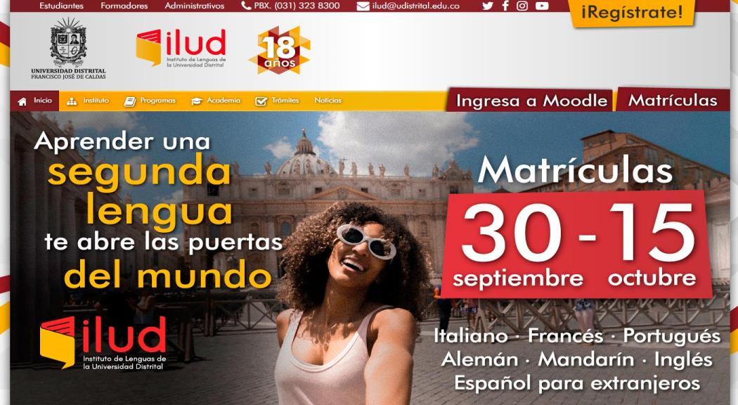 Matriculate En El Instituto De Lenguas De La Universidad Distrital Bogota Gov Co
