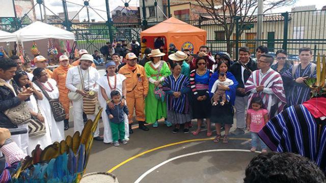 Conmemoración del cuarto cumpleaños de la Mesa Indígena de La Candelaria