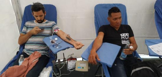 Cerca de 650 personas donan sangre en los puntos de colecta ubicados en diferentes sitios de la ciudad.