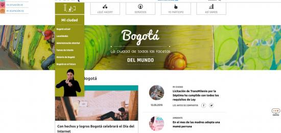 Nuevo portal Bogotá, www.bogota.gov.co