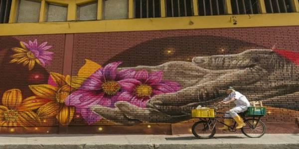 Mural Centro de Bogotá - Foto: Gabriel González (IDARTES)