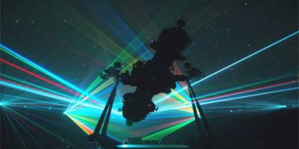 Proyecciones láser en el Planetario de Bogota - Foto: Planetario de Bogotá