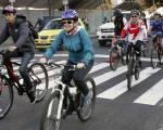 Ciclistas en la capital - Foto: Revista Dinero