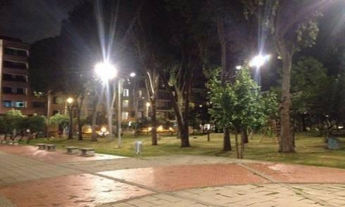 Durante 12 días las calles del parque de Usaquén solo para peatones. Foto: Prensa UAESP
