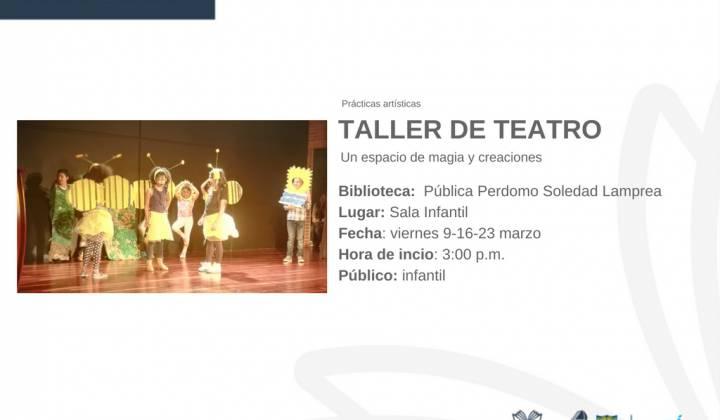 Taller de teatro - Foto: Cultura, recreación y deporte