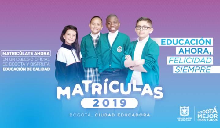 Matrículas 2019 - Foto: Secretaría Distrital de Educación