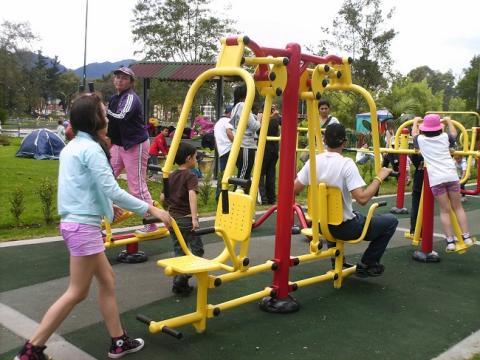 Así serían los parques con gimnasios al aire libre que se estarían gestionando para el Distrito.