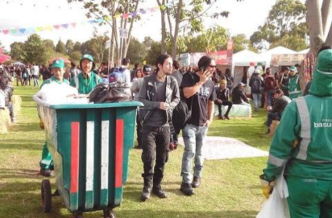 Basura eventos - Foto: Prensa UAESP
