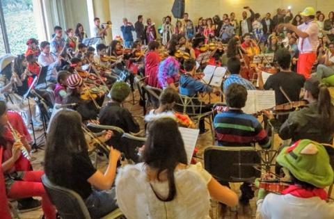 Alumnos de Centros Orquestales Locales - Foto: Orquesta Filarmónica de Bogotá (OFB)