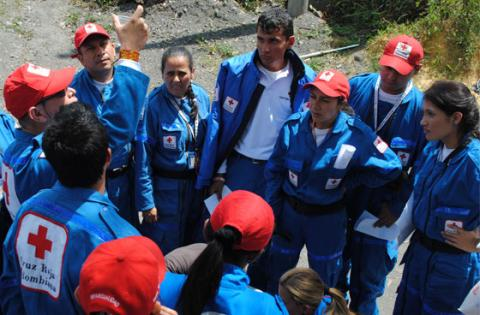 Voluntarios - Foto: Cruz Roja Colombiana