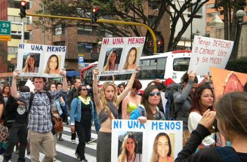 Así fue la marcha en contra del feminicidio en Bogotá