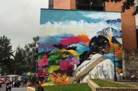 Mural Juan Valdez Calle 73 - Foto: Vértigo Grafitti