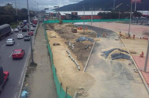Obras Terminal Norte - Prensa Secretaría de Movilidad