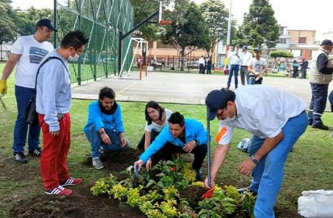 Embellecimiento Parque Toberín - Foto: Prensa IDPAC