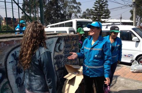 Población recicladora en Bogotá - Foto: Prensa Uaesp