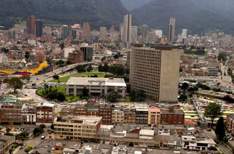 Panorámica de un sector de Bogotá-Centro Administrativo - Foto: Diego Bauman-Alcaldía Mayor de Bogotá