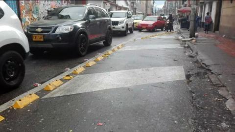 Canalización de vía en los Mártires - Foto: Secretaría de Movilidad