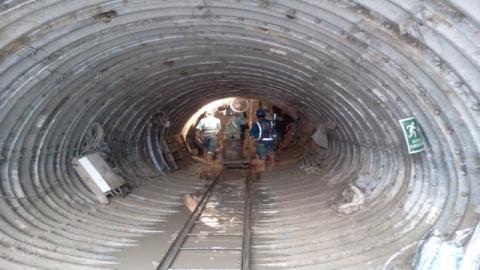 Construcción Tunel Linner - Foto: Corpacero
