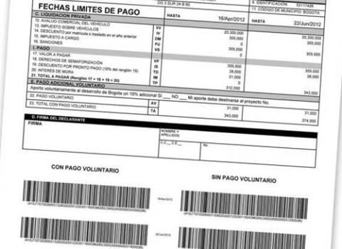 Formulario Impuestos Cundinamarca 2016