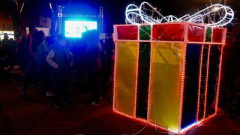 Alumbrado navideño en Engativá - Foto: Alcaldía Local de Engativá