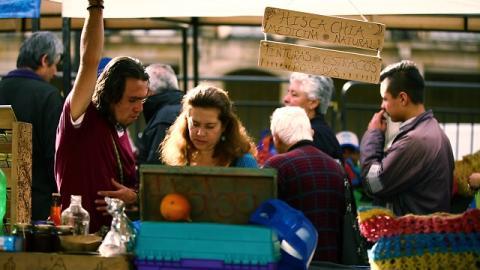 Mercados Campesinos en la Plaza de Bolívar. Foto: Camilo Ayala