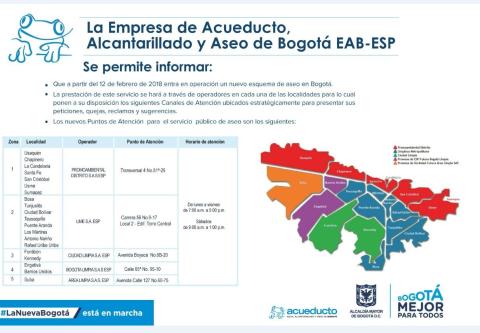 Acueducto informa nuevo esquema de aseo en usme bogota for Empresas de jardineria bogota