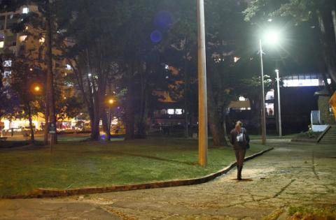 Parque de la Virgen, iluminado para mayor seguridad
