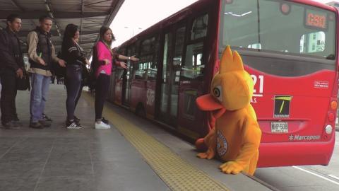 Este pato es la muestra de la mala cultura ciudadana en TransMilenio.