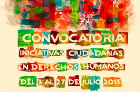 convocatoria para apoyar iniciativas ciudadanas que contribuyan a difundir y promover el respeto de los derechos humanos en el Distrito Capital