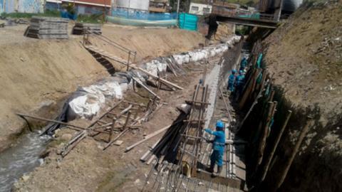 Trabajos Quebrada Limas - Foto: EAB