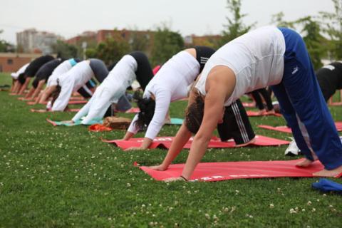 Eco Yoga en el Parque de los Novios  e5aefd877b4a
