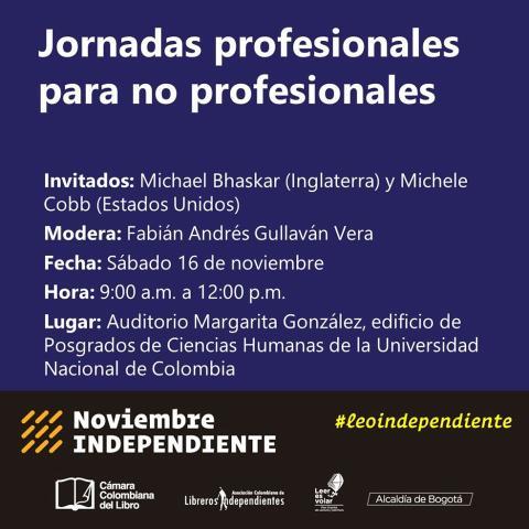 Jornada profesional para no profesionales en Noviembre Independiente