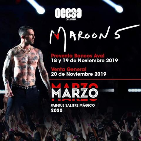 Maroon Five en Bogotá