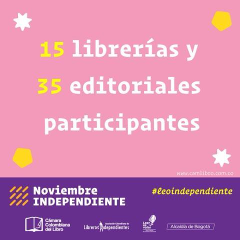 Segunda edición de Noviembre Independiente, con la participación de 15 librerías y 35 editoriales