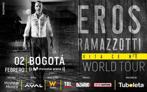 Eros Ramazzotti de concierto en Bogotá