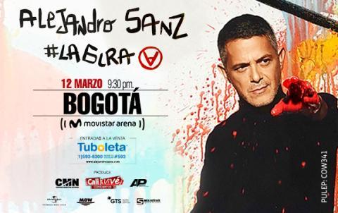 Alejandro Sanz en concierto en Bogotá
